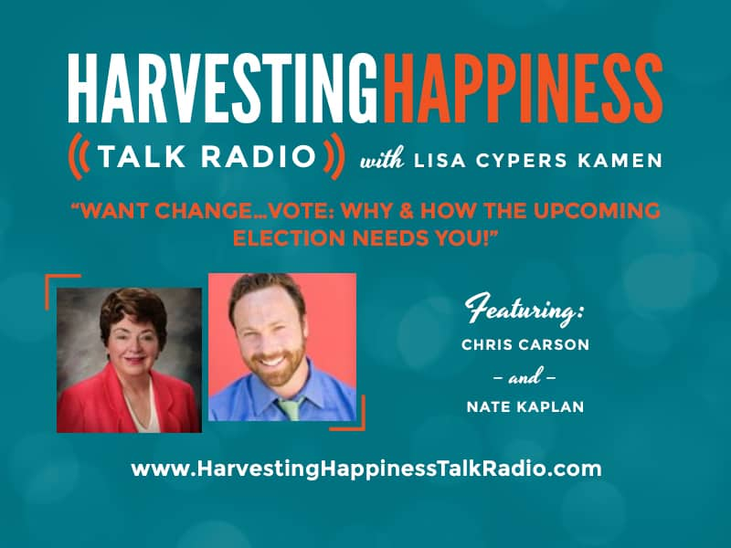 Harvesting Happiness Talk Radio vote